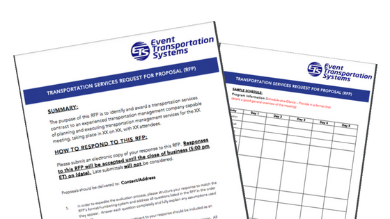 Download This Free Event Transportation RFP Template |