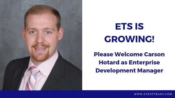 Carson Hotard Joins Event Transportation Systems as Enterprise Development Manager